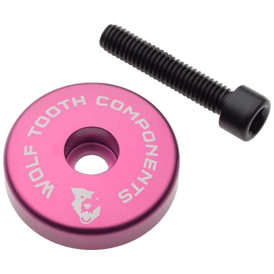 Bild von Wolf Tooth Ultralight Ahead Kappe mit integriertem Spacer - pink