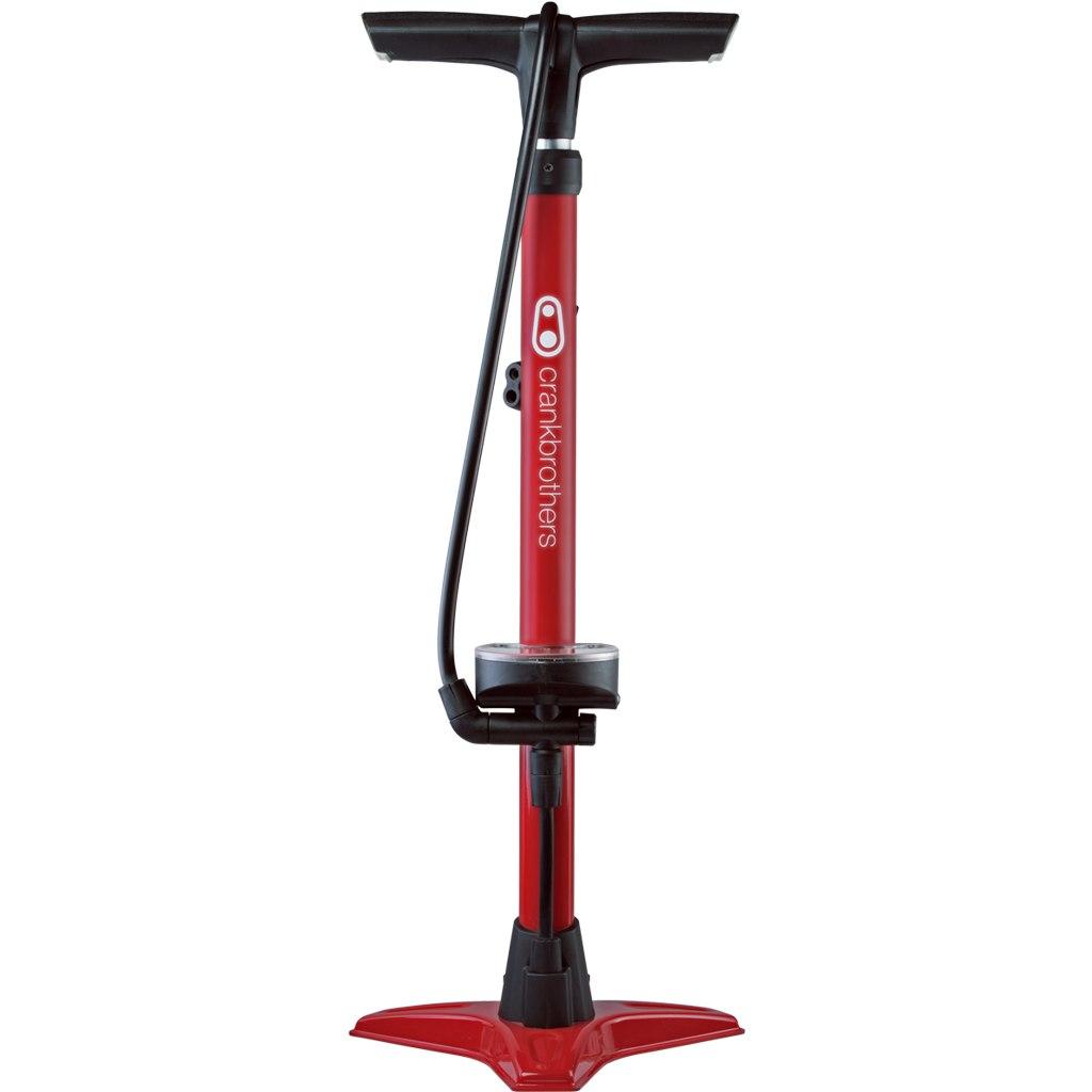 Crankbrothers Gem Floor Pump with analog Manometer - red