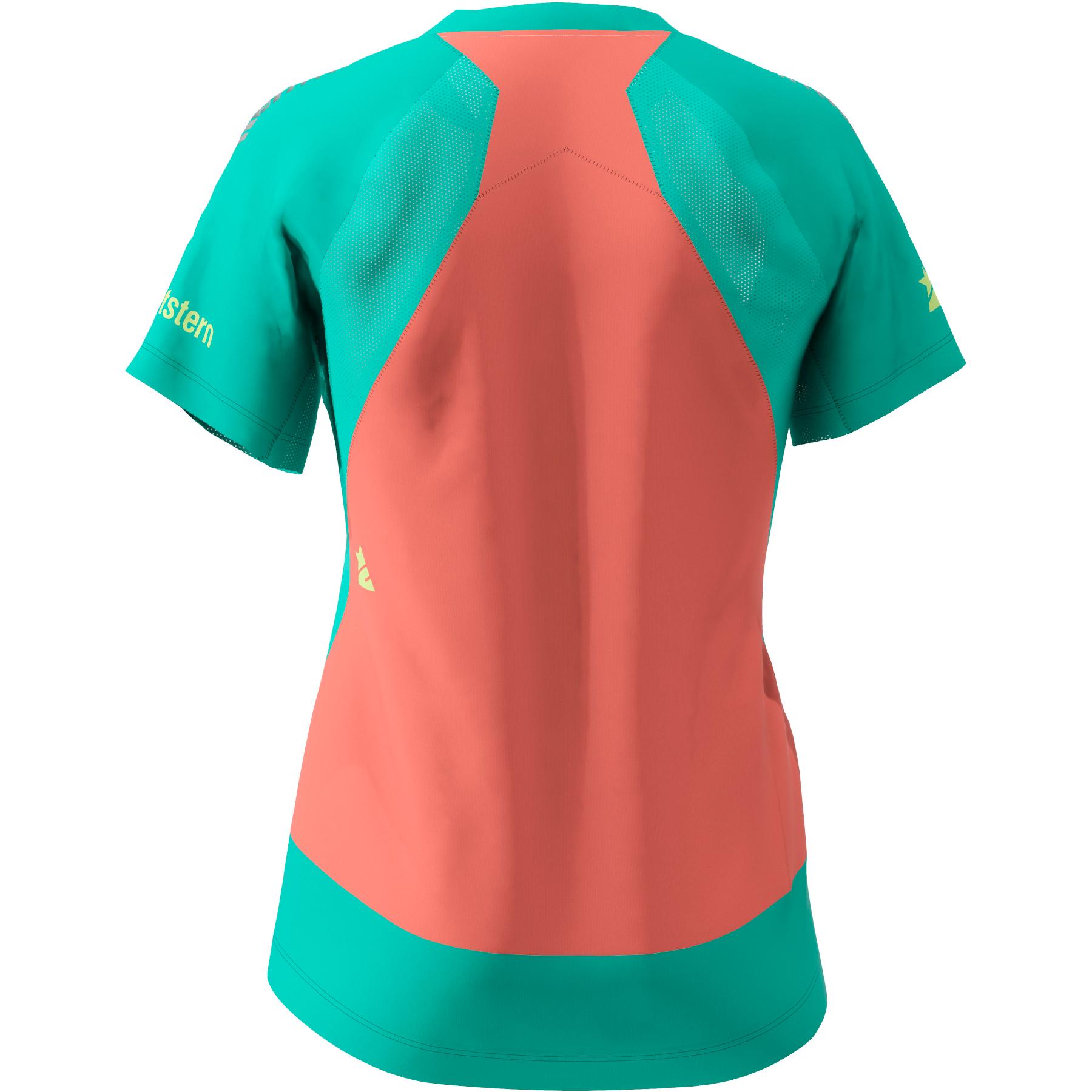 Bild von Zimtstern TechZonez MTB-Kurzarmshirt für Damen - florida keys/pacific green/living coral
