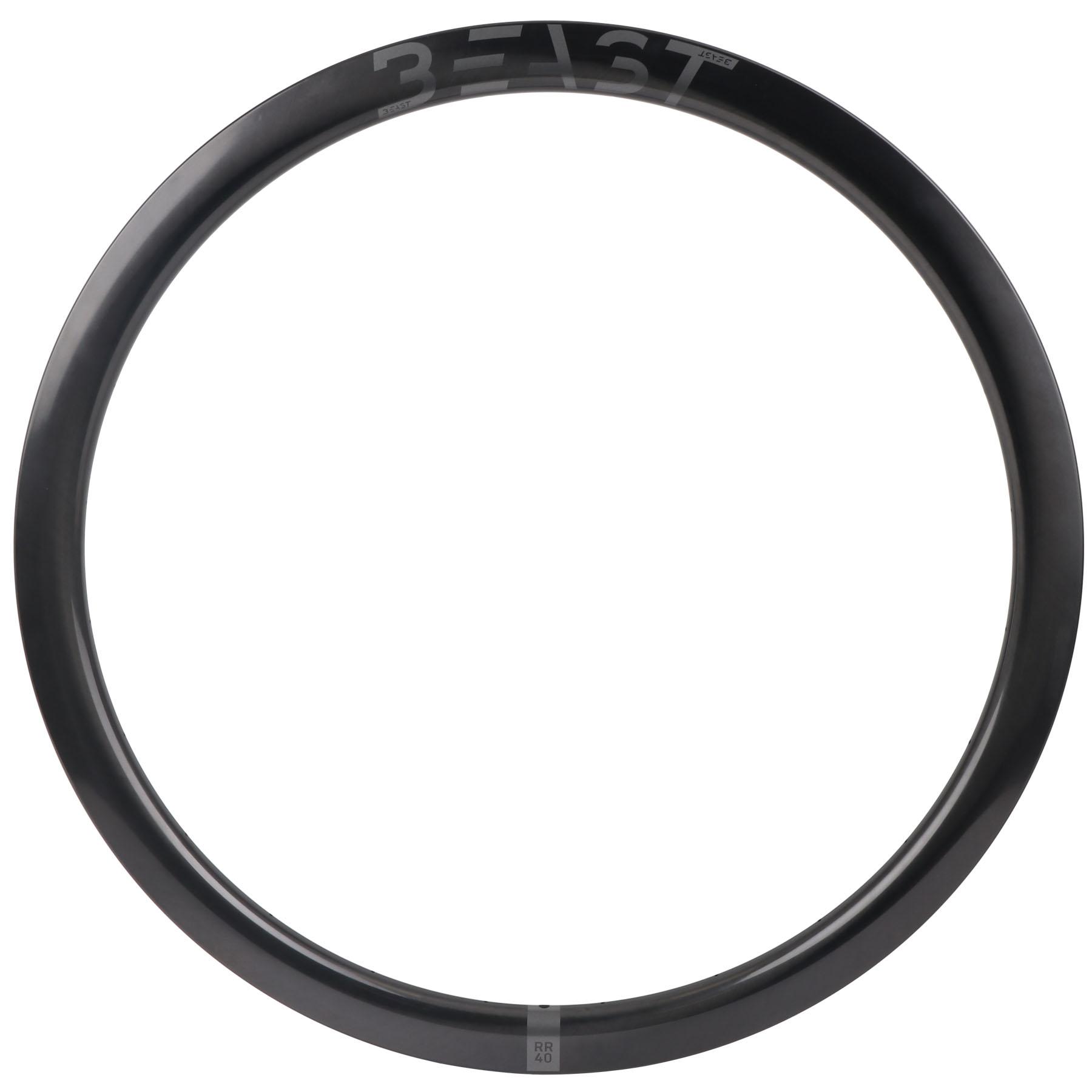 Beast Components RR40 Carbon Disc Clincher Rim - 20-622 - 24 Hole - UD black