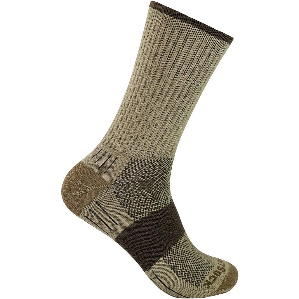 WRIGHTSOCK Escape Crew Double Layer Socks - khaki - 956-04