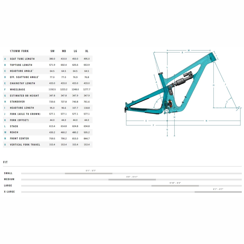 "Image of Yeti Cycles SB150 - T2 29"" Carbon Mountainbike - 2021 - Turquoise"