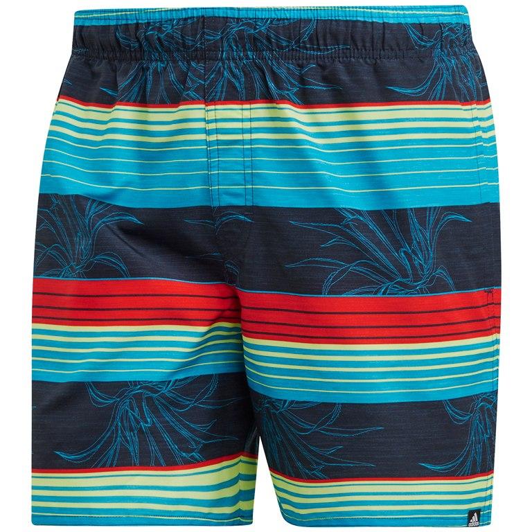 adidas Men's Stripe Swim Shorts - legend ink/active red DQ2997