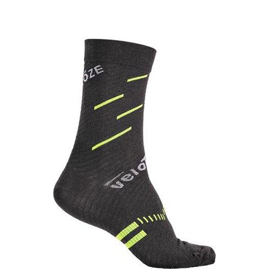 veloToze Merino Wool Socks - Black/Yellow
