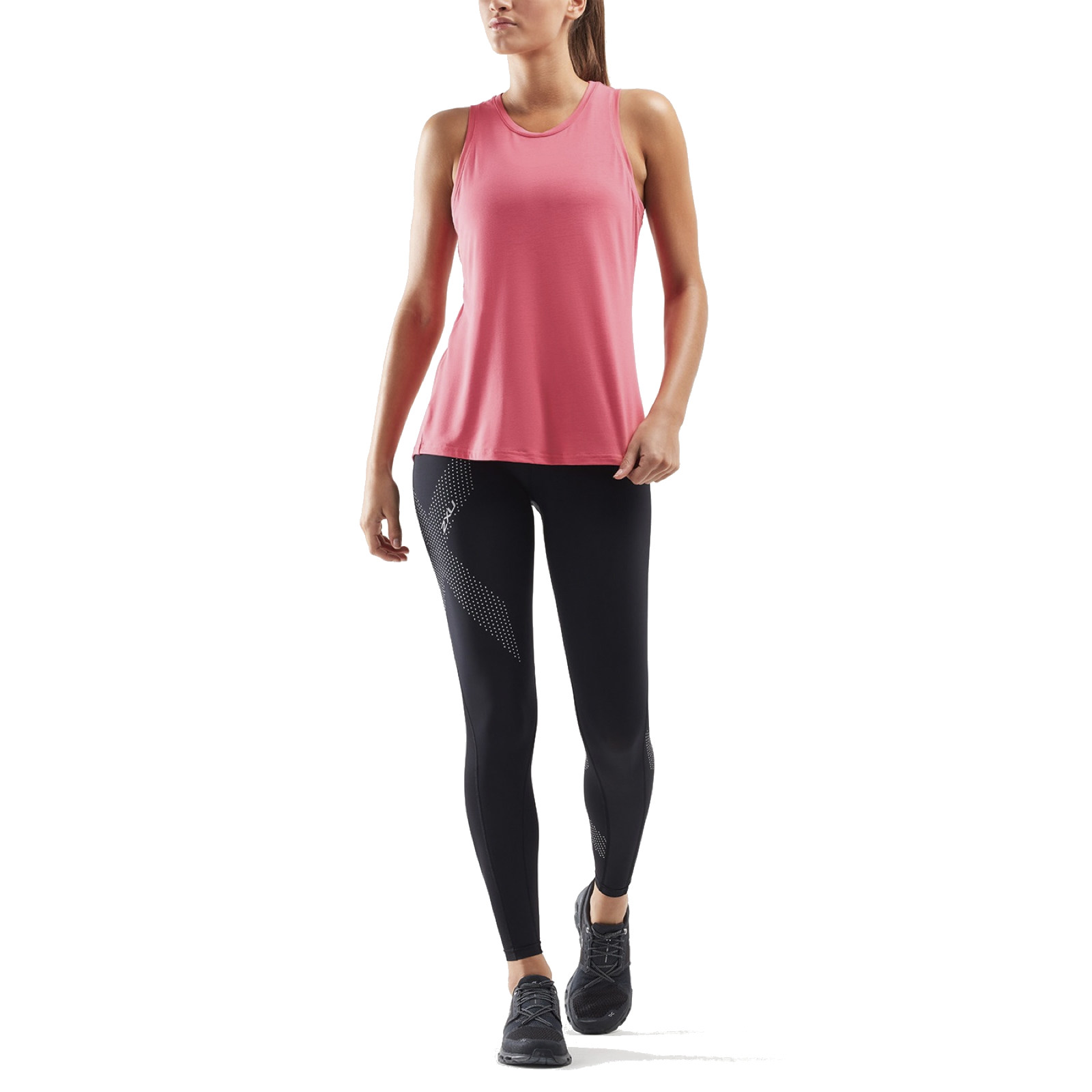 Imagen de 2XU CONTENDER Camiseta de Tirantes Mujer - pink lift/blossom camo