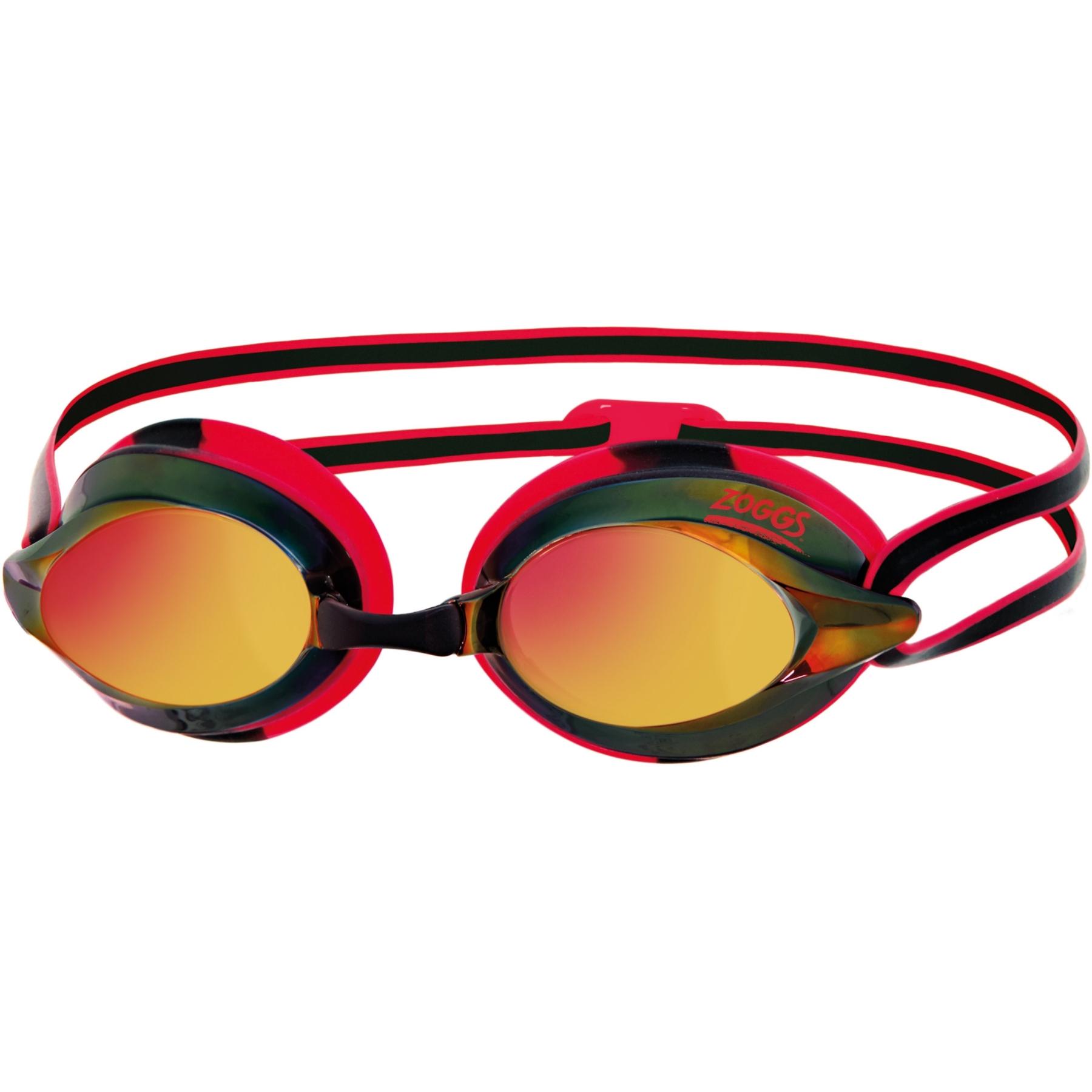 Zoggs Racespex Mirror Schwimmbrille - black/red/mirrored