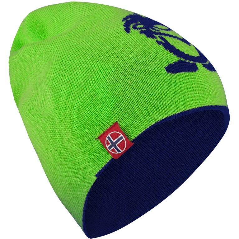 Image of Trollkids Troll Beanie Long - Navy/Bright Green