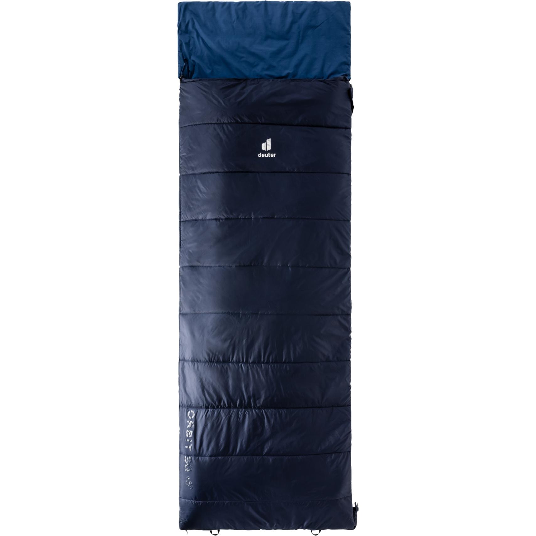 Image of Deuter Orbit SQ +5° Sleeping Bag - zip right - navy-steel