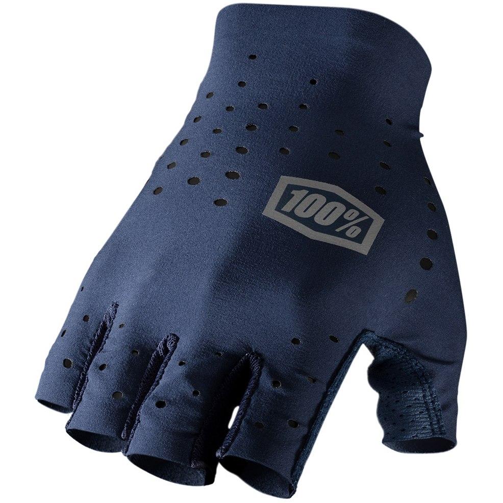 100% Sling Short Finger Gloves - Navy