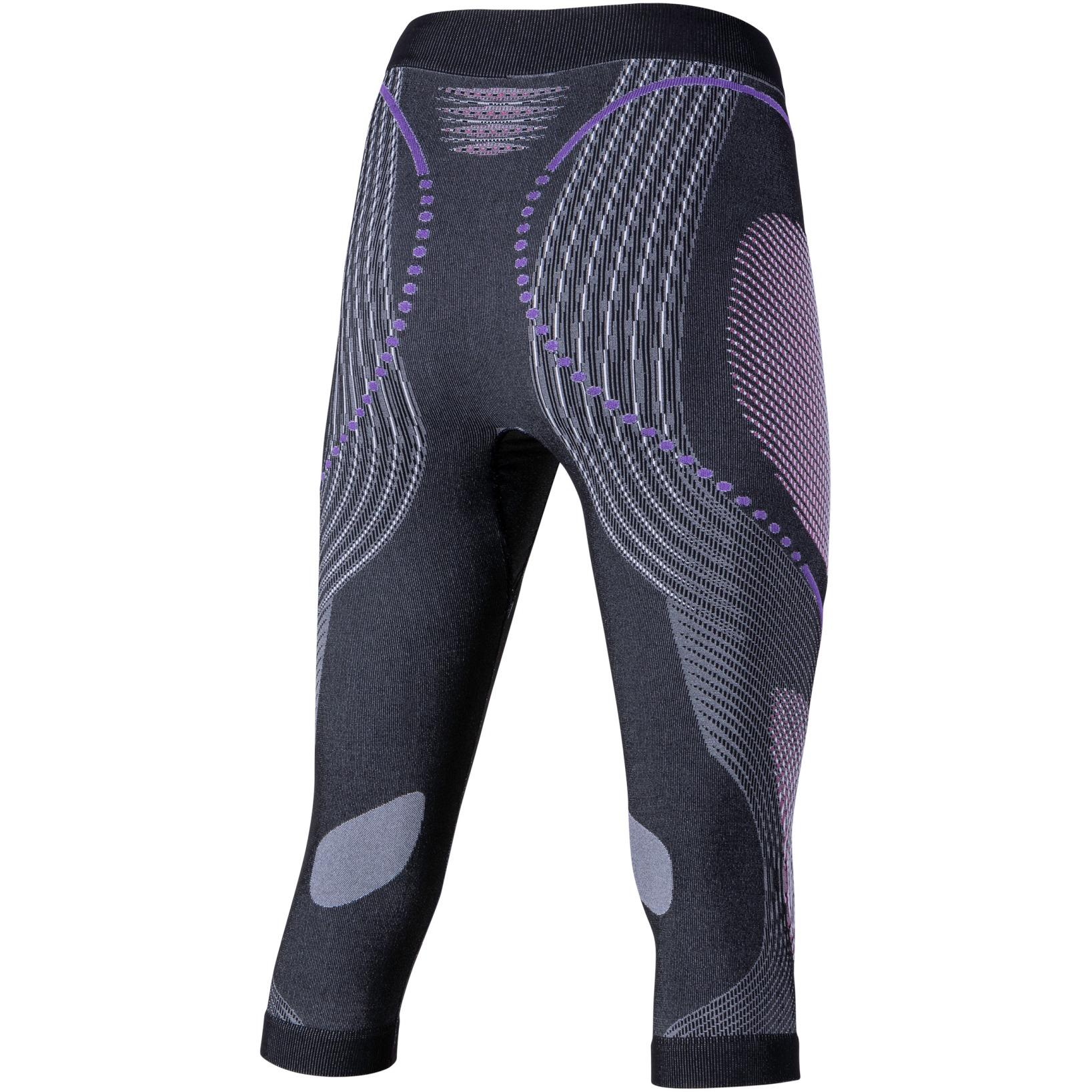 Bild von UYN Evolutyon Melange 3/4 Unterhose Damen - Anthracite Melange/Raspberry/Purple