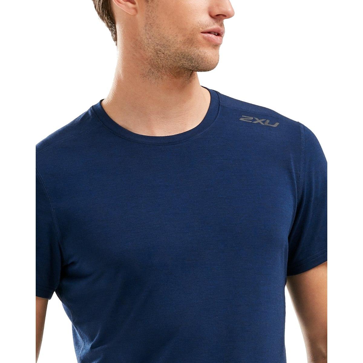 Imagen de 2XU Heat Short Sleeve Tee - navy marle/navy marle