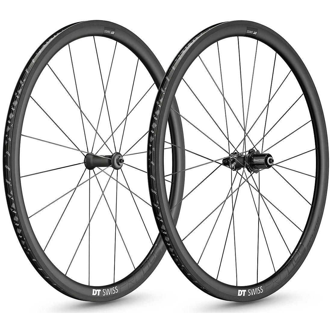 Foto de DT Swiss PRC 1400 SPLINE 35 - Set de ruedas carbono - Clincher - QR