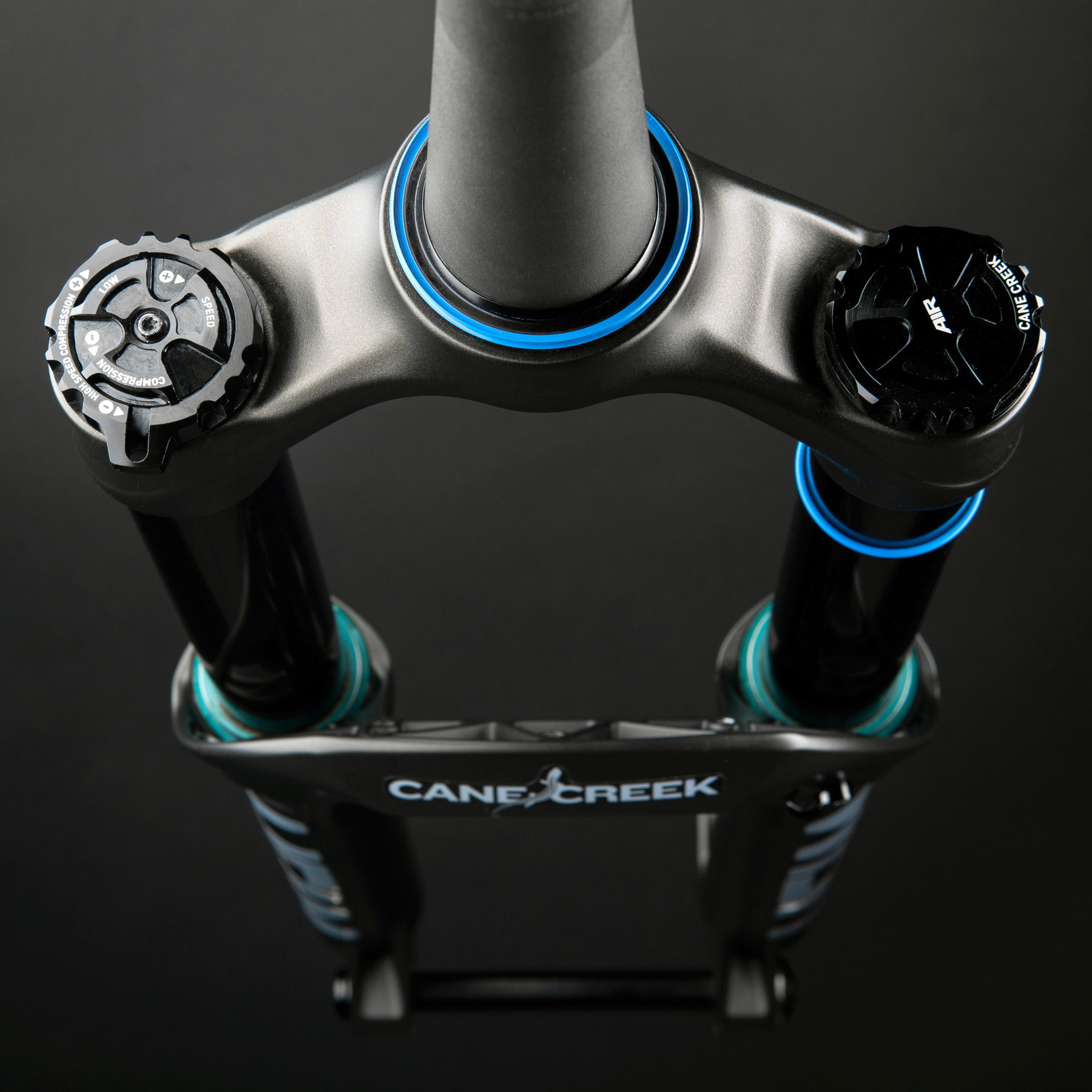 Image of Cane Creek Helm Air MKII 27.5 Inch Fork - 170mm - 44mm Offset - Tapered - 15x110mm Boost - matte black