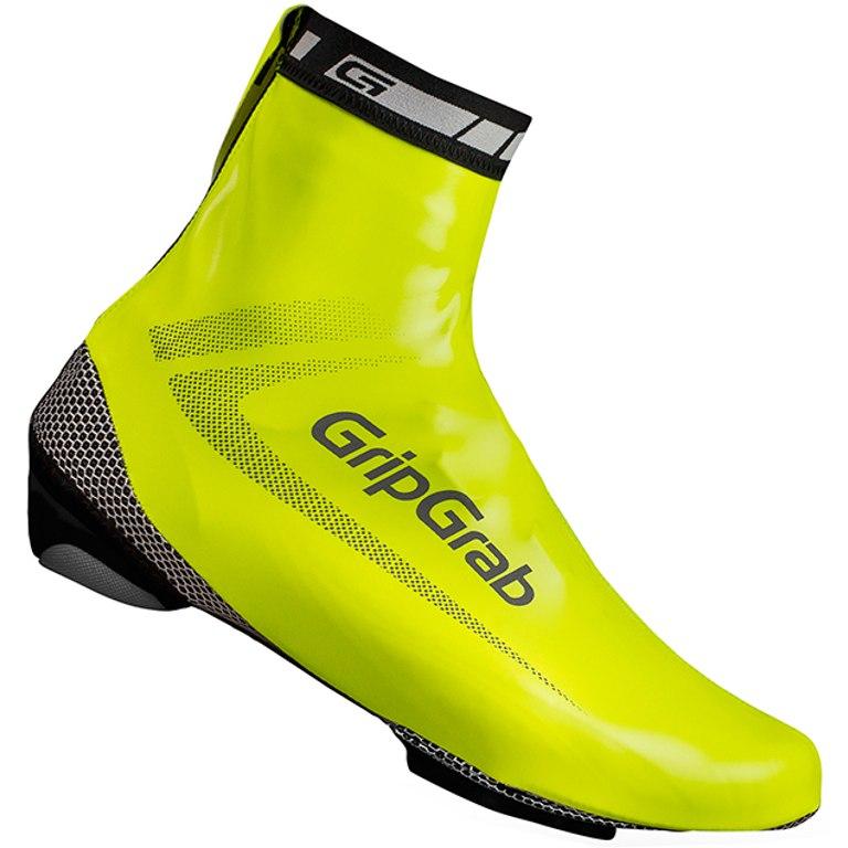 GripGrab RaceAqua Hi-Vis Waterproof Shoe Cover - Yellow Hi-Vis