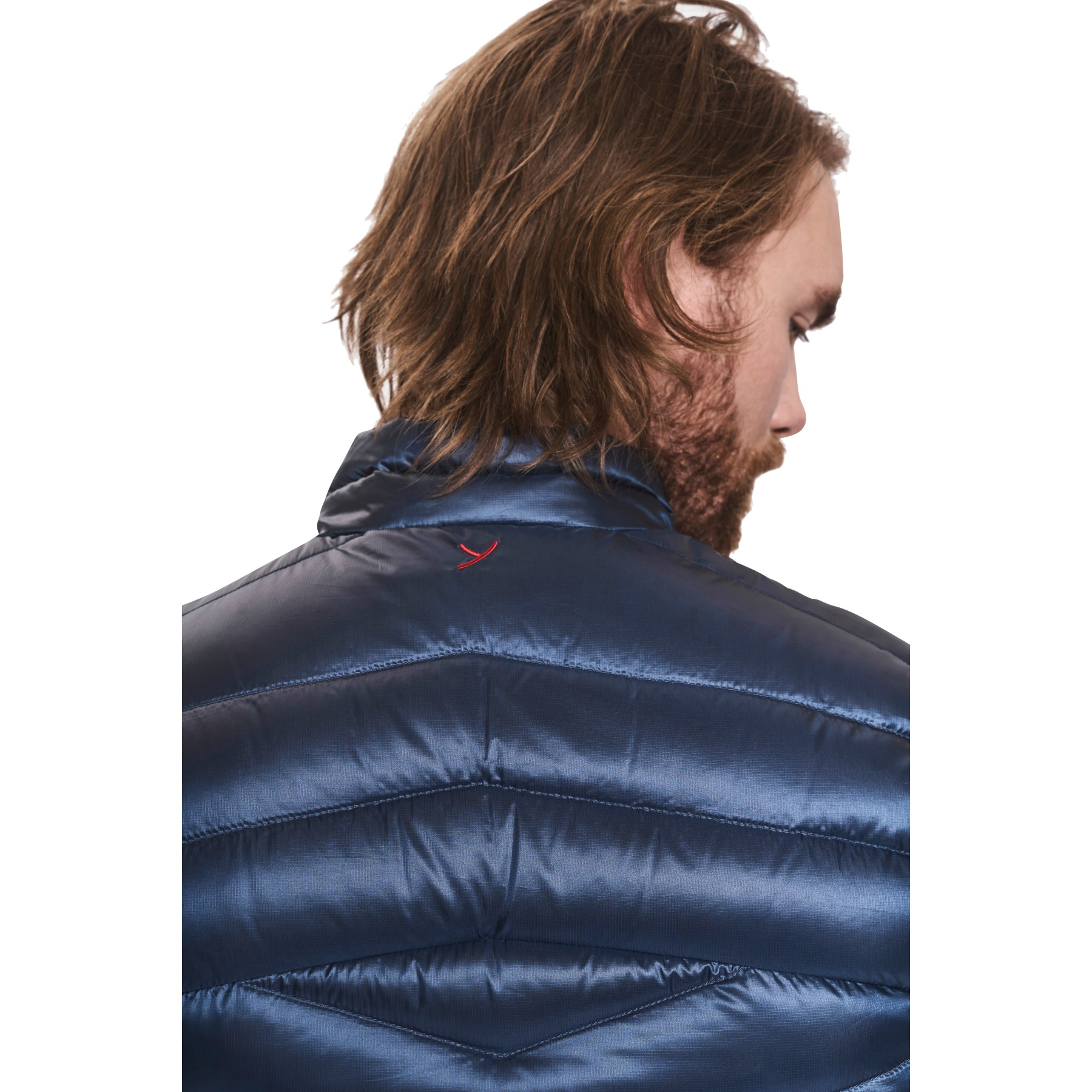 Image of Y by Nordisk Evans Men's Down Vest - mood indigo