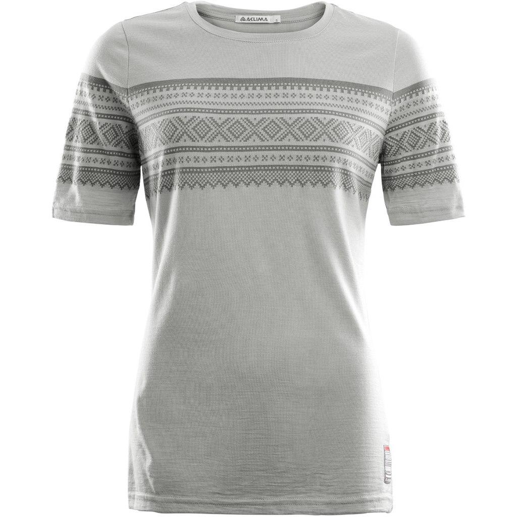 Aclima Designwool Marius T-Shirt Woman - paloma grey/castle rock