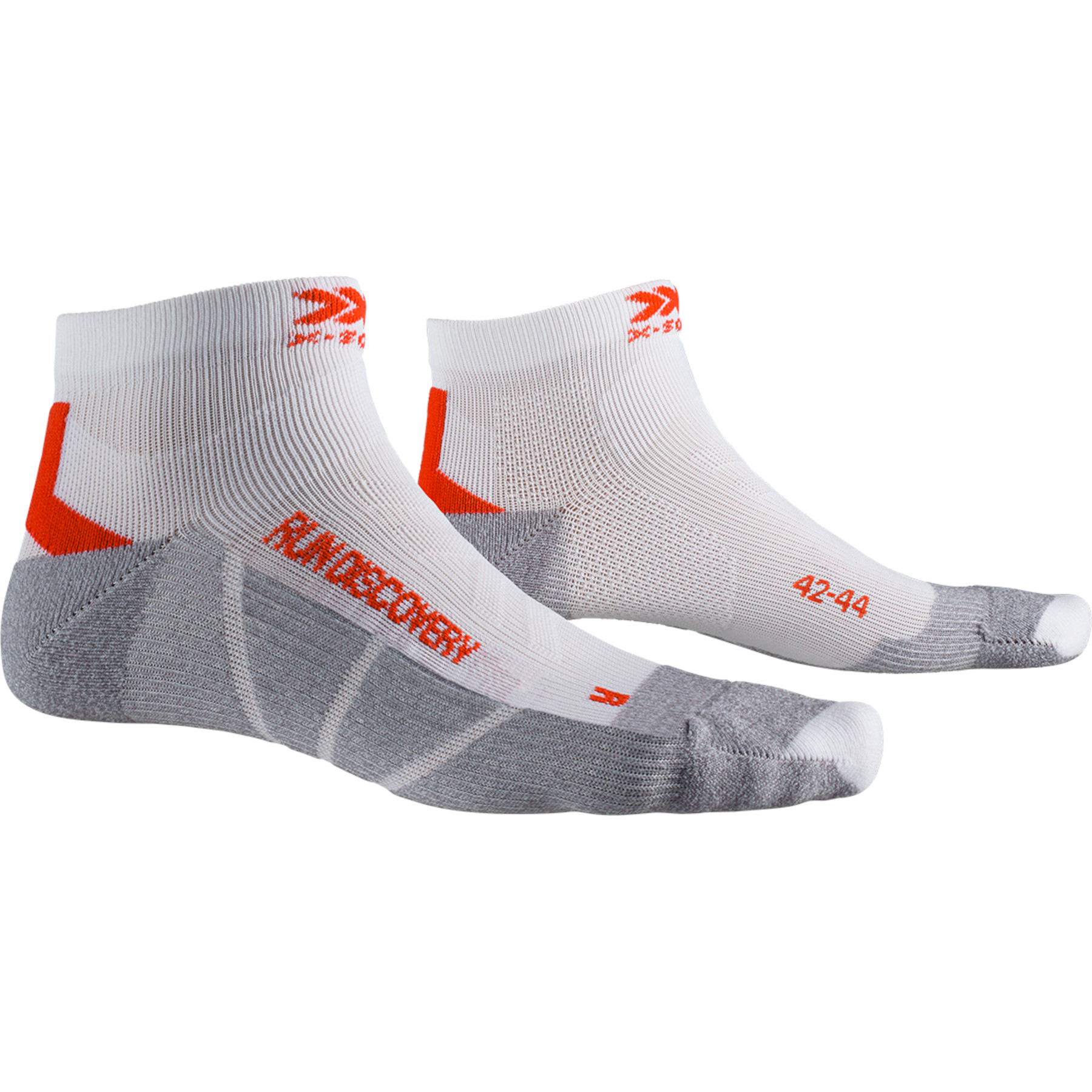 X-Socks Run Discovery Laufsocken - arctic white/dolomite grey