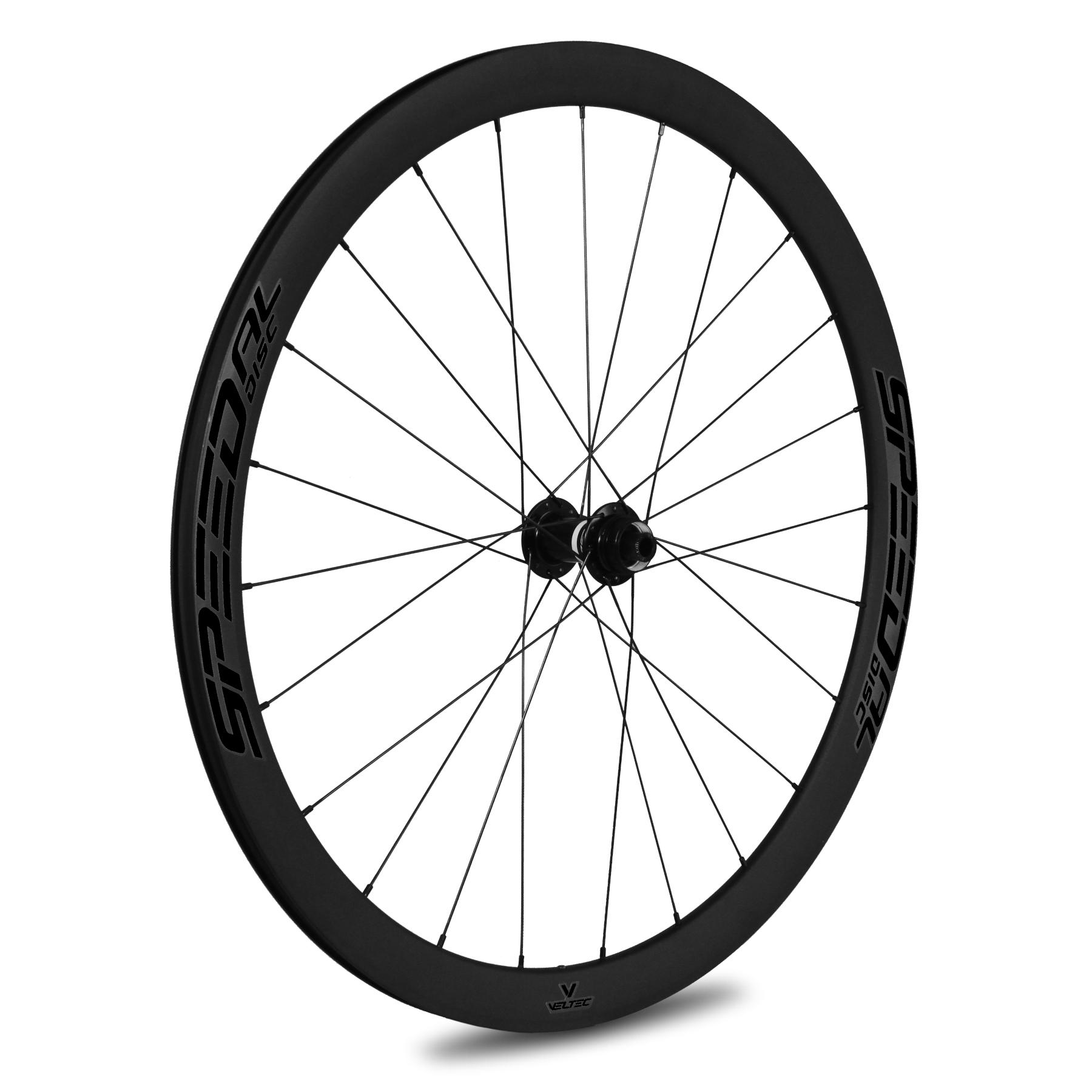 Veltec Speed AL Disc Vorderrad - Drahtreifen - QR100 - schwarz