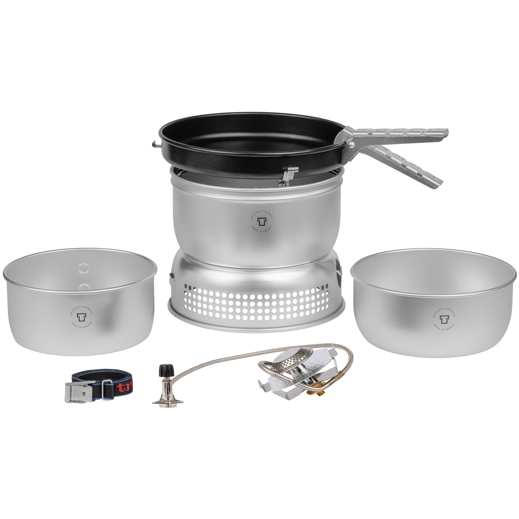 Trangia Storm Cooker 25-3 UL - Stove with Gas Burner, Non-Stick Frypan