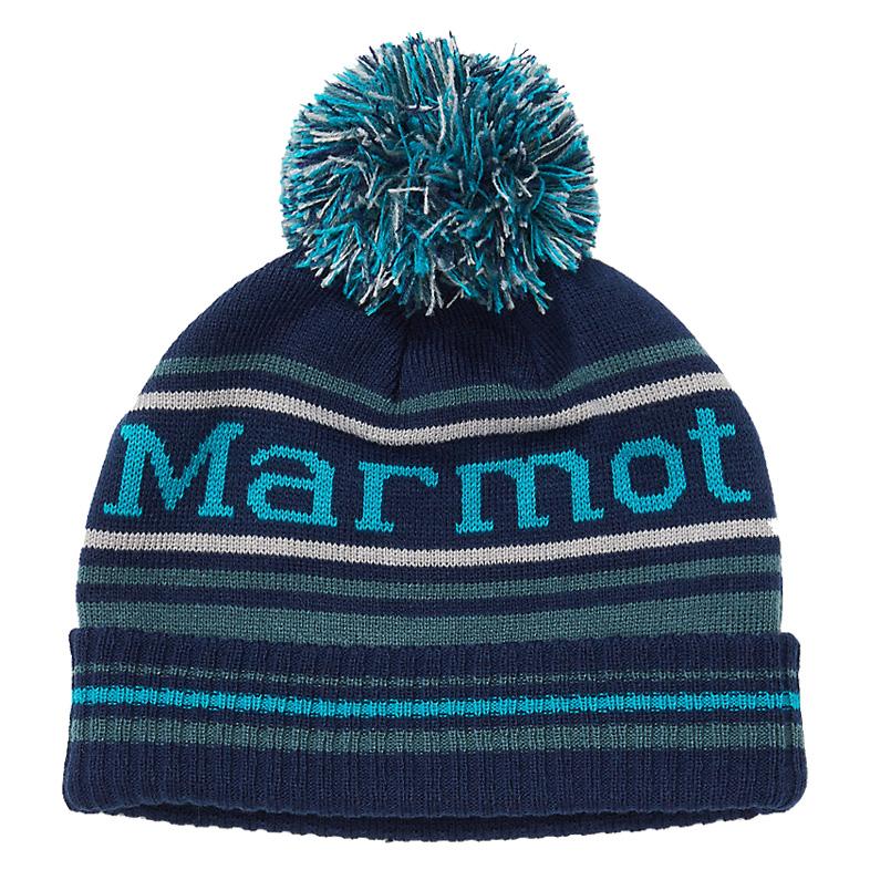 Marmot Kid's Retro Pom Hat - Arctic Navy/Stargazer