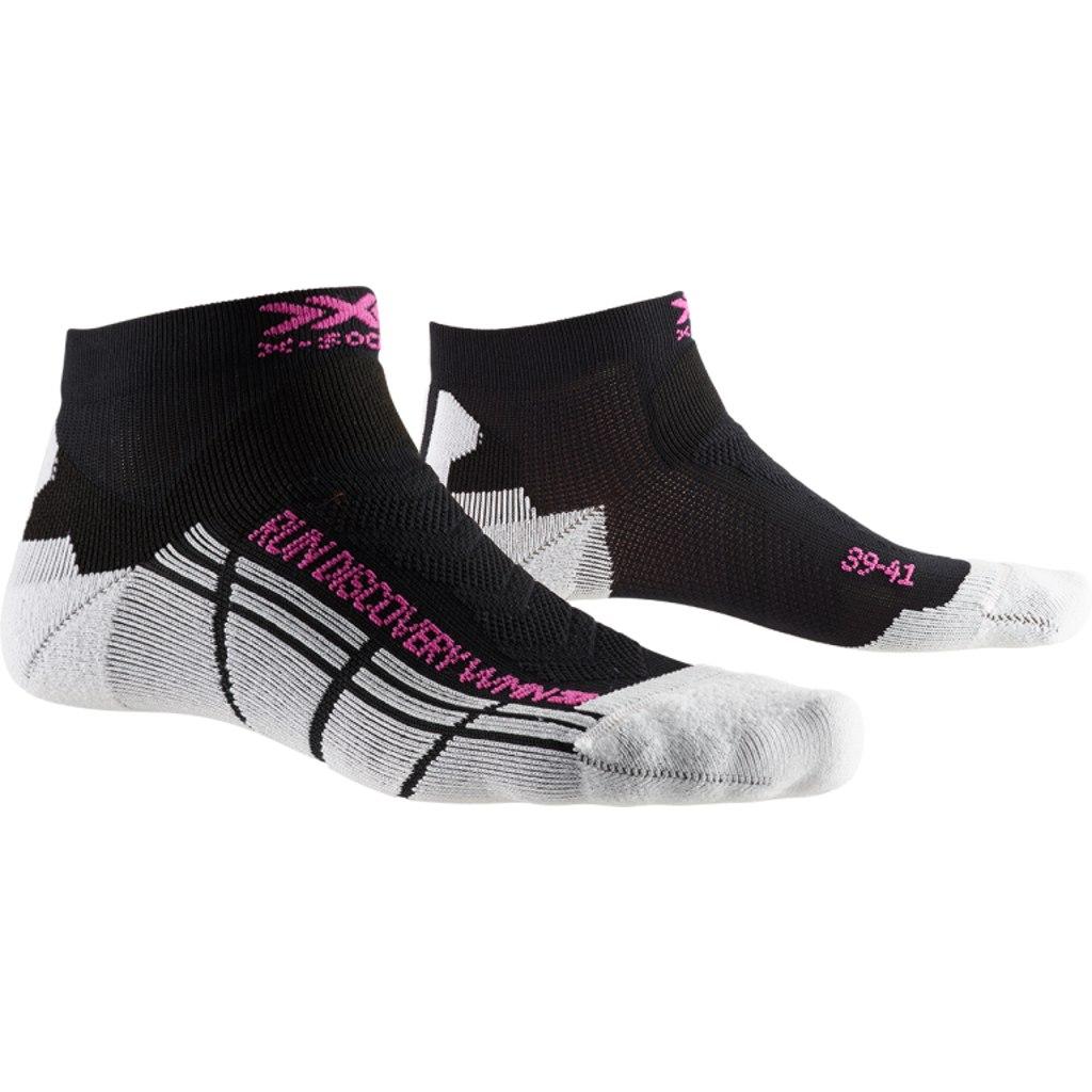 X-Socks Run Discovery Damen Laufsocken - opal black/arctic white