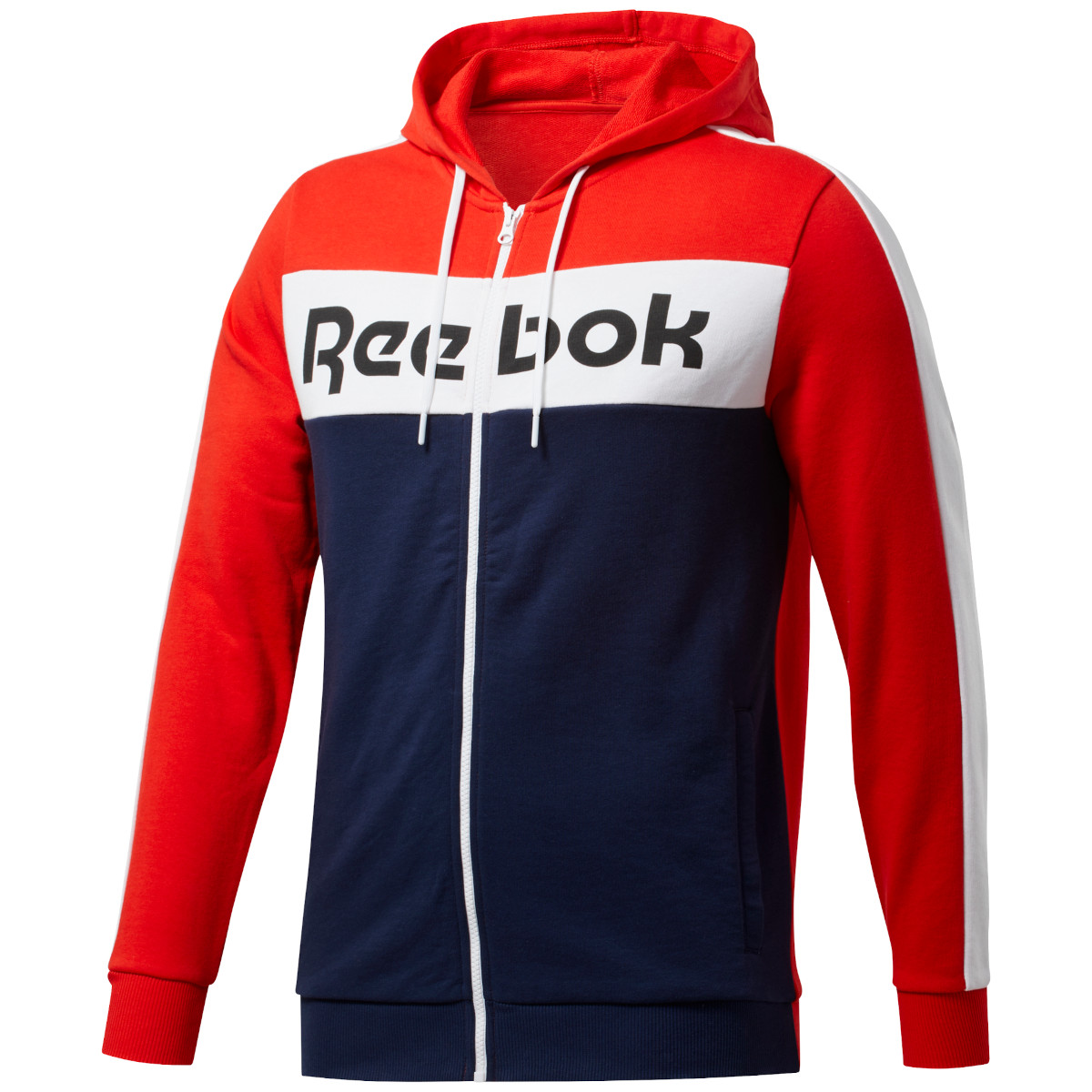 Reebok Männer Training Essentials Logo Kapuzenjacke - instinct red FU3125