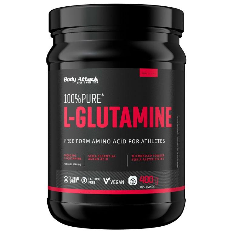 Body Attack 100% Pure L-Glutamic Acid - Beverage Powder - 400g Can