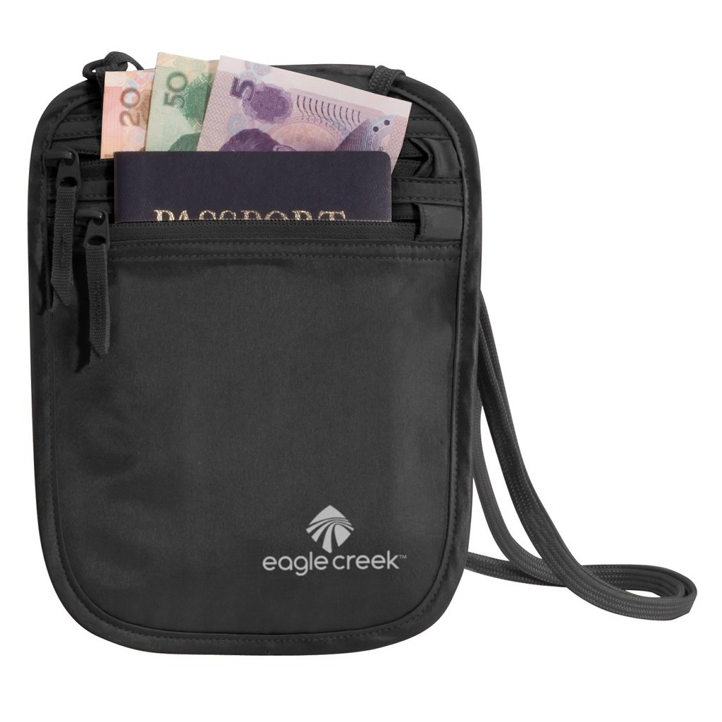 Image of Eagle Creek Silk Undercover Neck Wallet - black