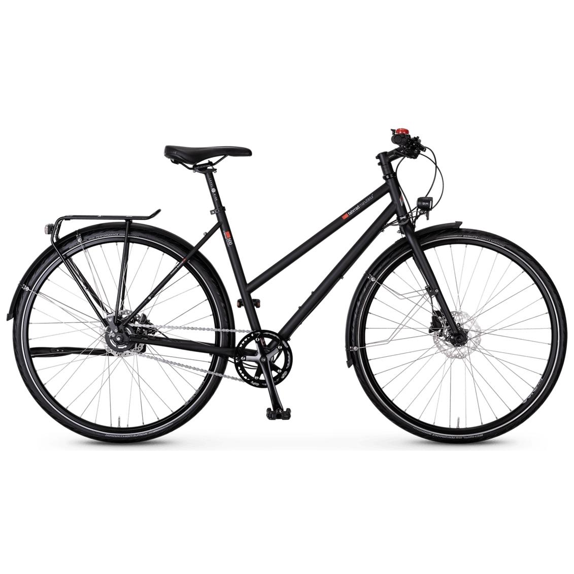 vsf fahrradmanufaktur T-500 Disc Alfine - Damen Trekkingrad - 2021 - ebony matt