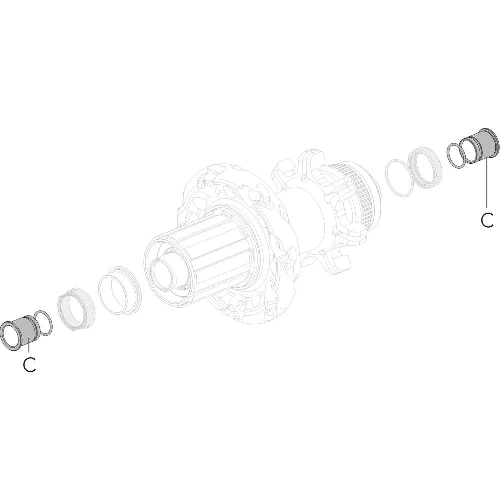 Fulcrum RW Conversion Kit to 10x135mm TA (C+C) - RM16-TA10135