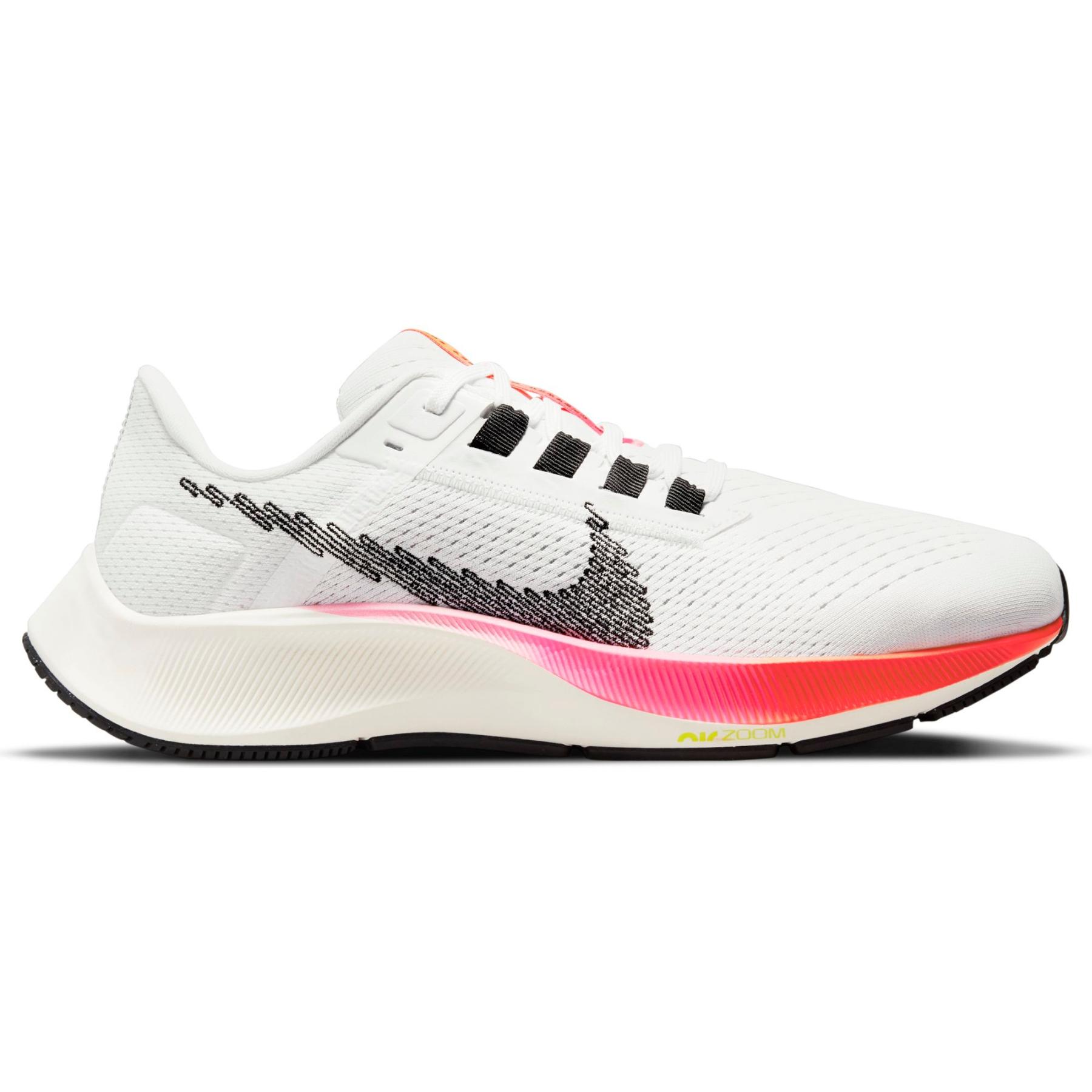Nike Air Zoom Pegasus 38 Damen-Laufschuh - white/black-football grey-pink blast DJ5401-100