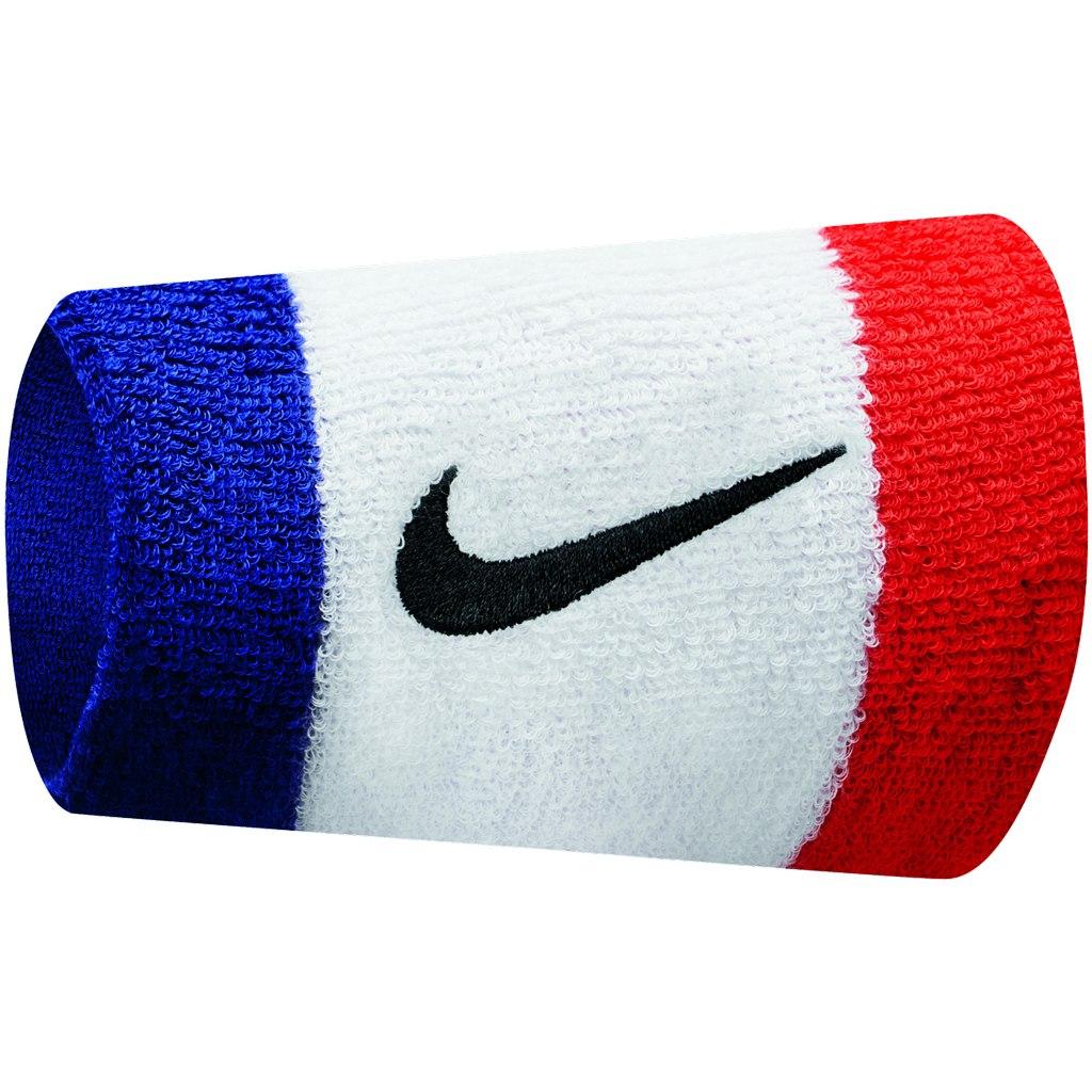 Nike Swoosh Wristband Doublewide - habanero red/black 620