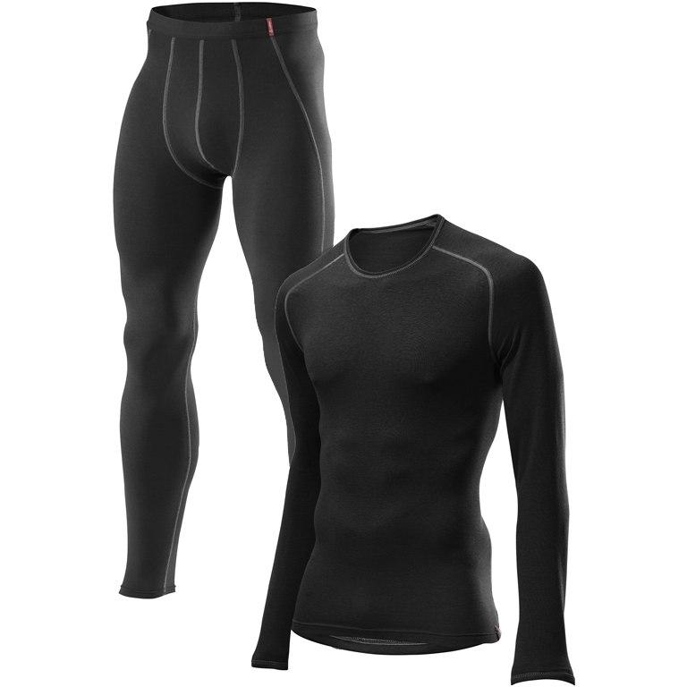 Löffler Underwear Set Long Transtex Warm 10735 - black 990