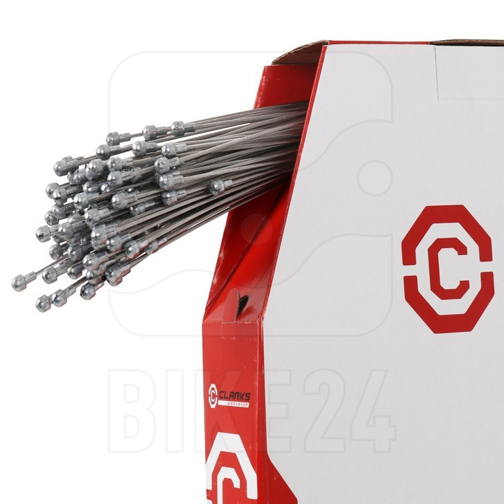 Image of Clarks Dispenser Box - Long Life Road Bike Braking Cables - Stainless Steel - 100 pieces