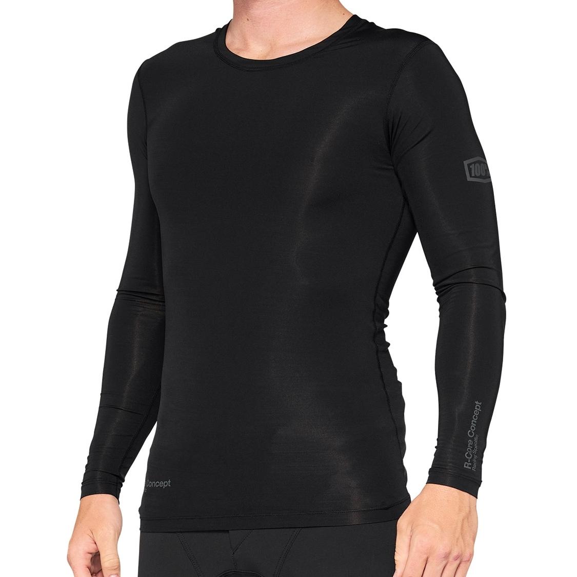 Imagen de 100% R-Core Concept Camiseta de compresión de manga larga - negro
