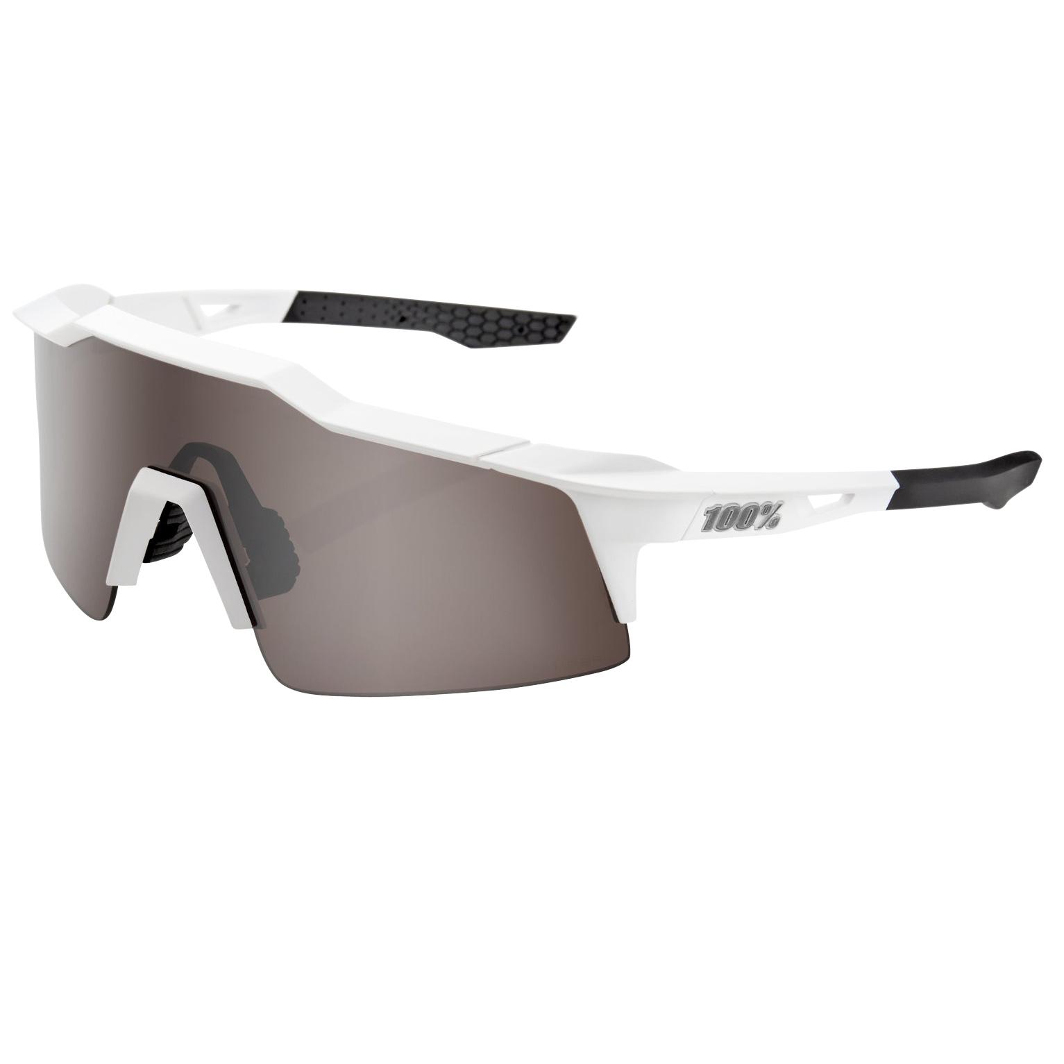Imagen de 100% Speedcraft - Small - HiPER Mirror Glasses - Matte White/Silver + Clear