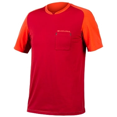 Picture of Endura GV500 Foyle T Jersey - rust red