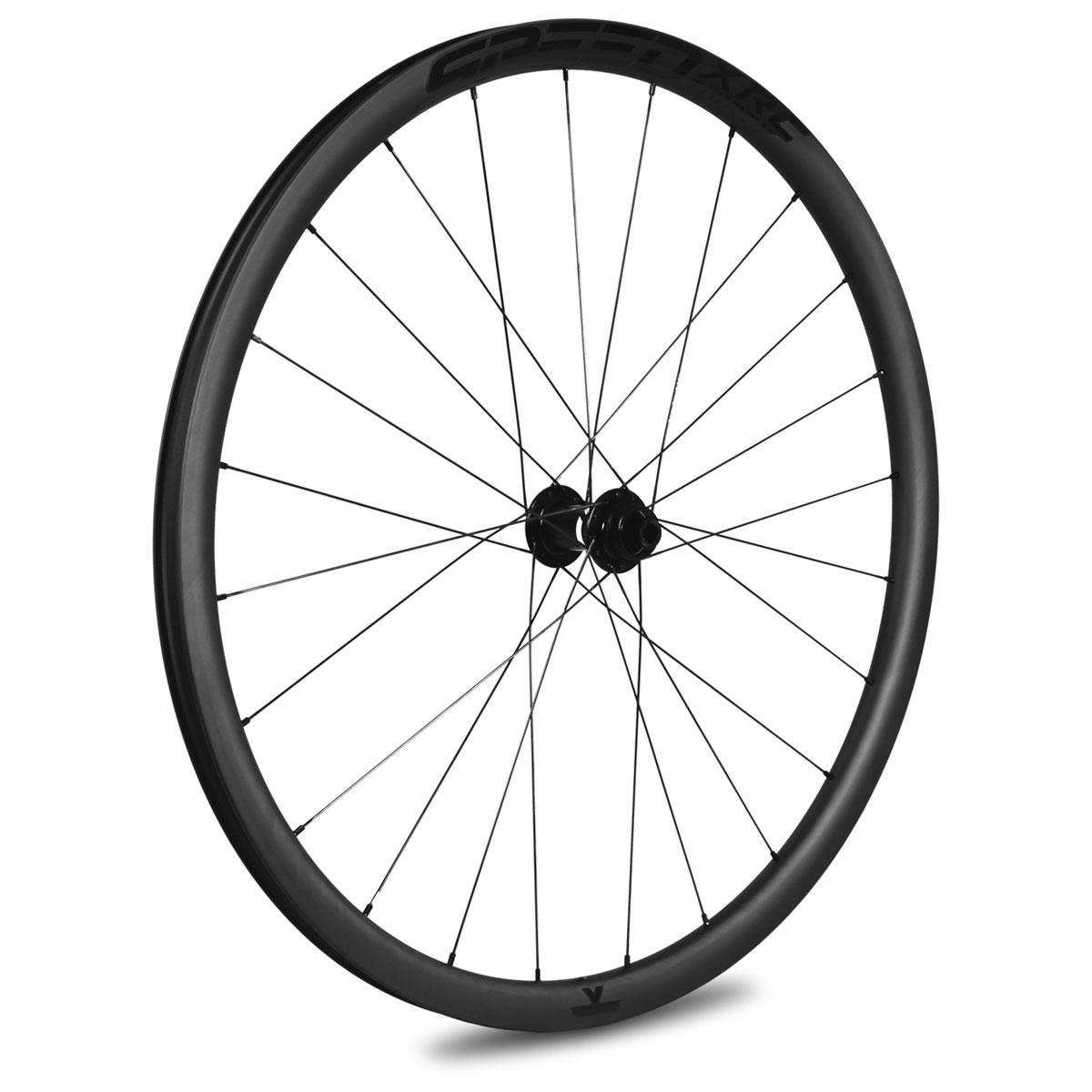 Veltec Speed XCR 30 Disc Carbon Vorderrad - Drahtreifen - 12x100mm - schwarz mit schwarzen Decals