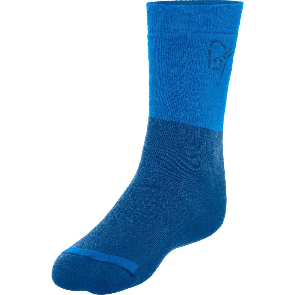 Norrona Trollveggen heavy weight Merino Socks - Denimite