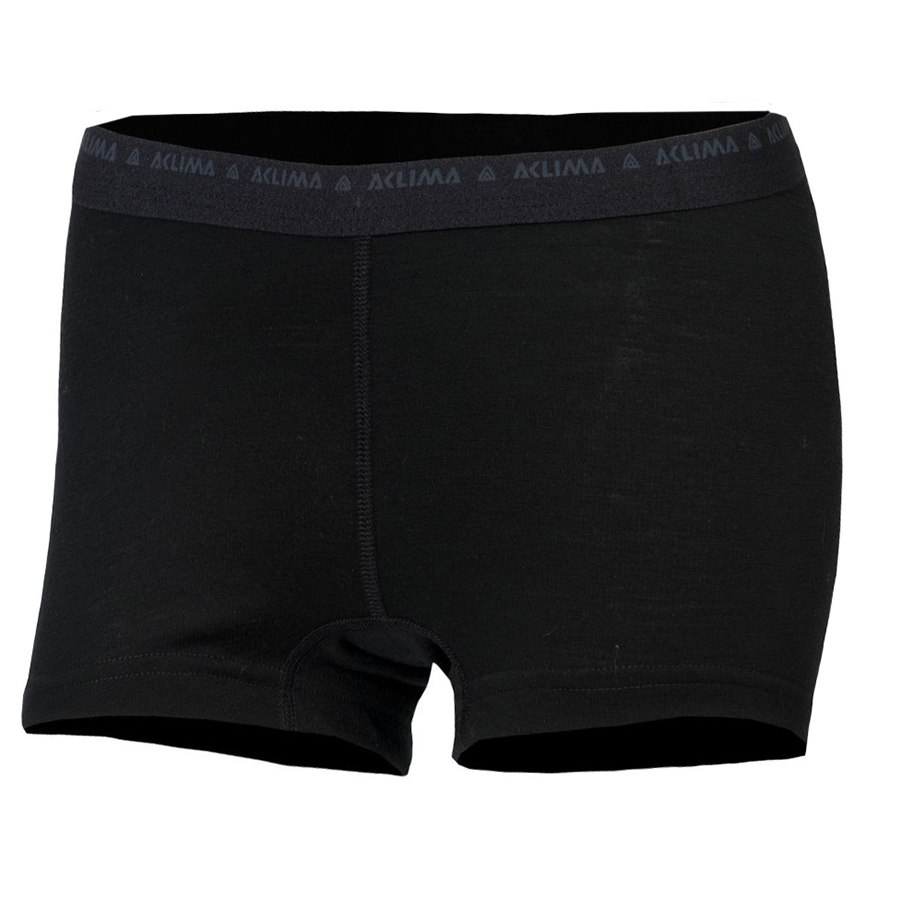 Aclima Lightwool Women's Hipster Shorts - jet black