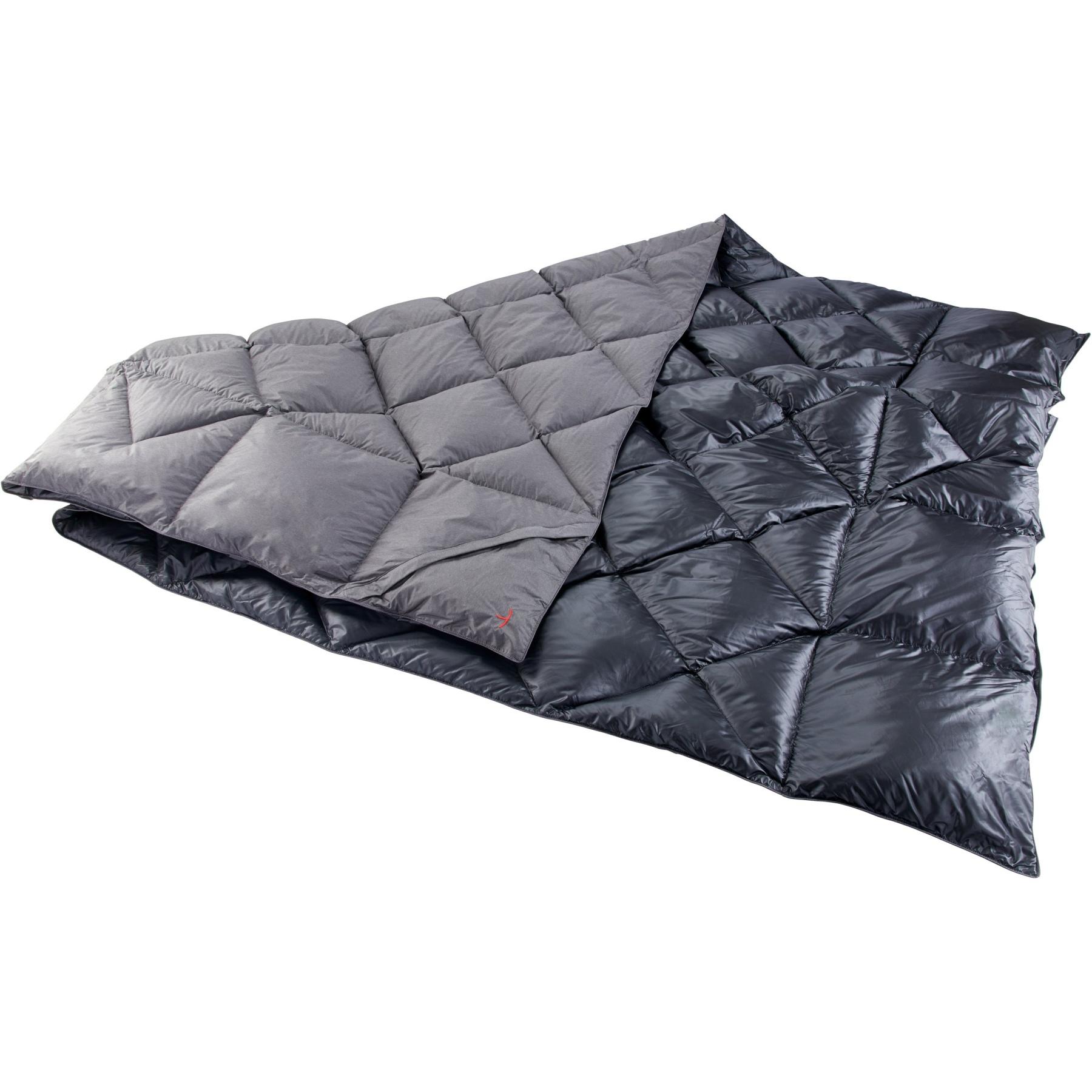 Y by Nordisk Kiby Packbare, daunengefüllte Reisedecke - coal grey/black