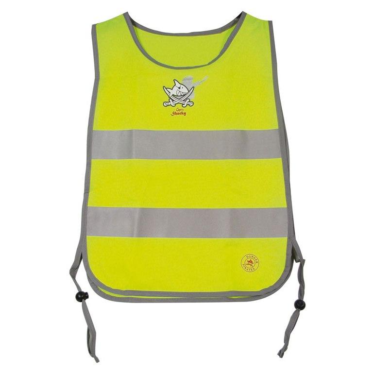 Image of B-Lite Vest Kid Capt'n Sharky Reflective Safety Vest for Kids - neon yellow