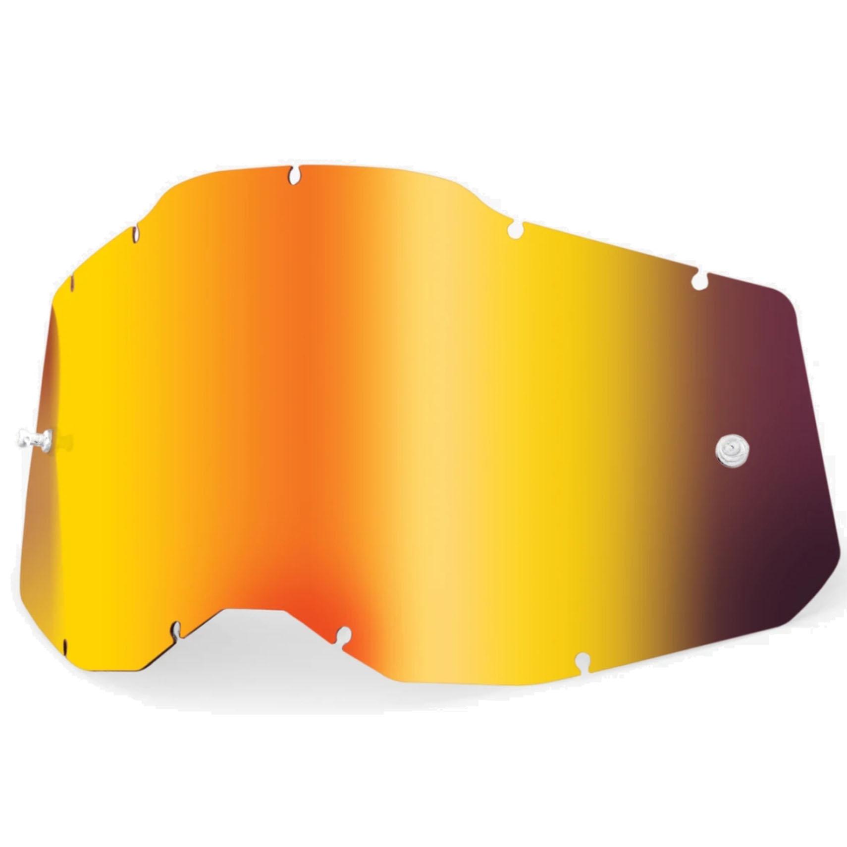 100% Youth Goggle Anti Fog Mirrored Lente de repuesto - Red Mirror