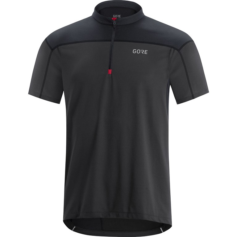 GORE Wear C3 Zip Jersey - terra grey/black 0R99