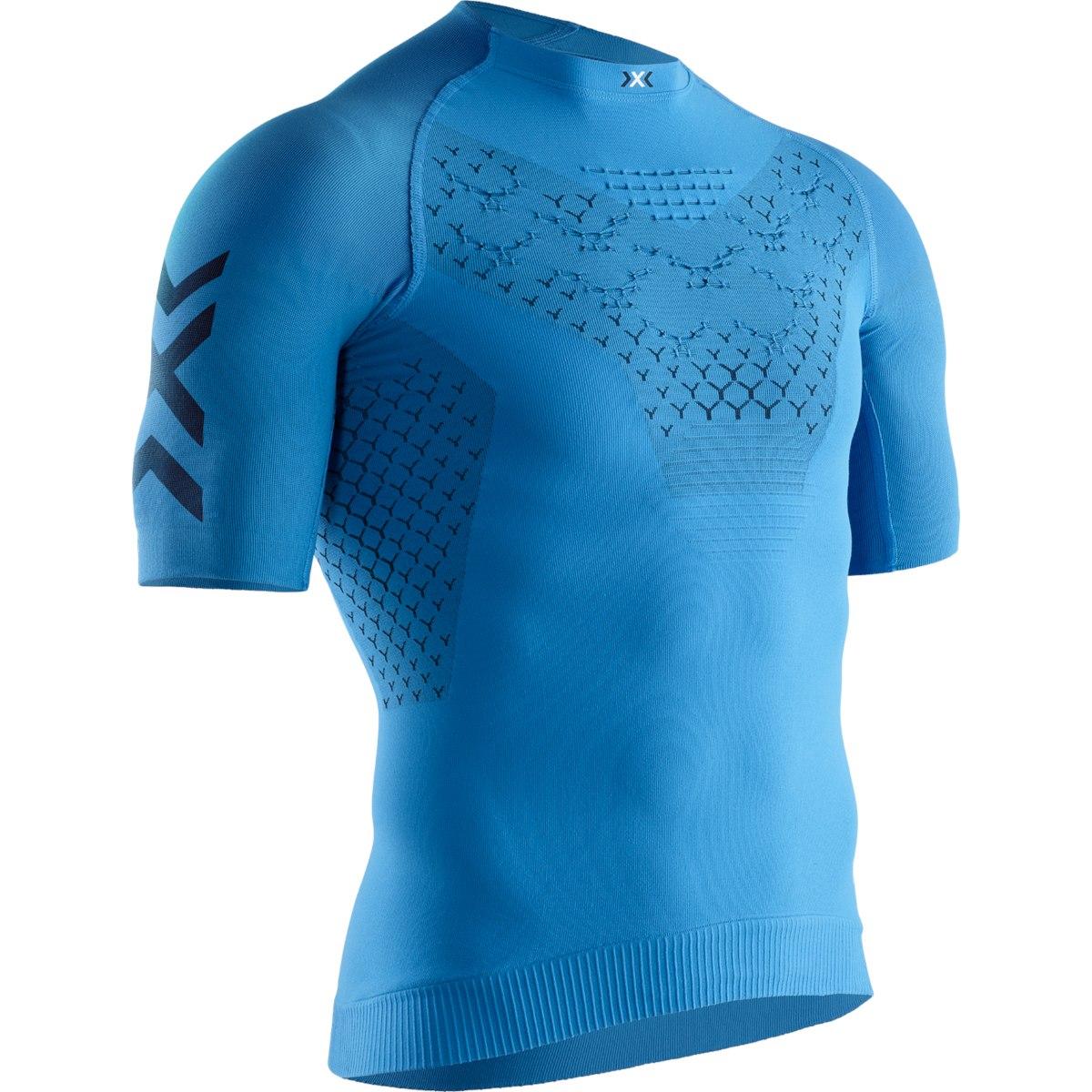 X-Bionic TWYCE 4.0 Run Shirt Short Sleeves for Men - twyce blue/opal black