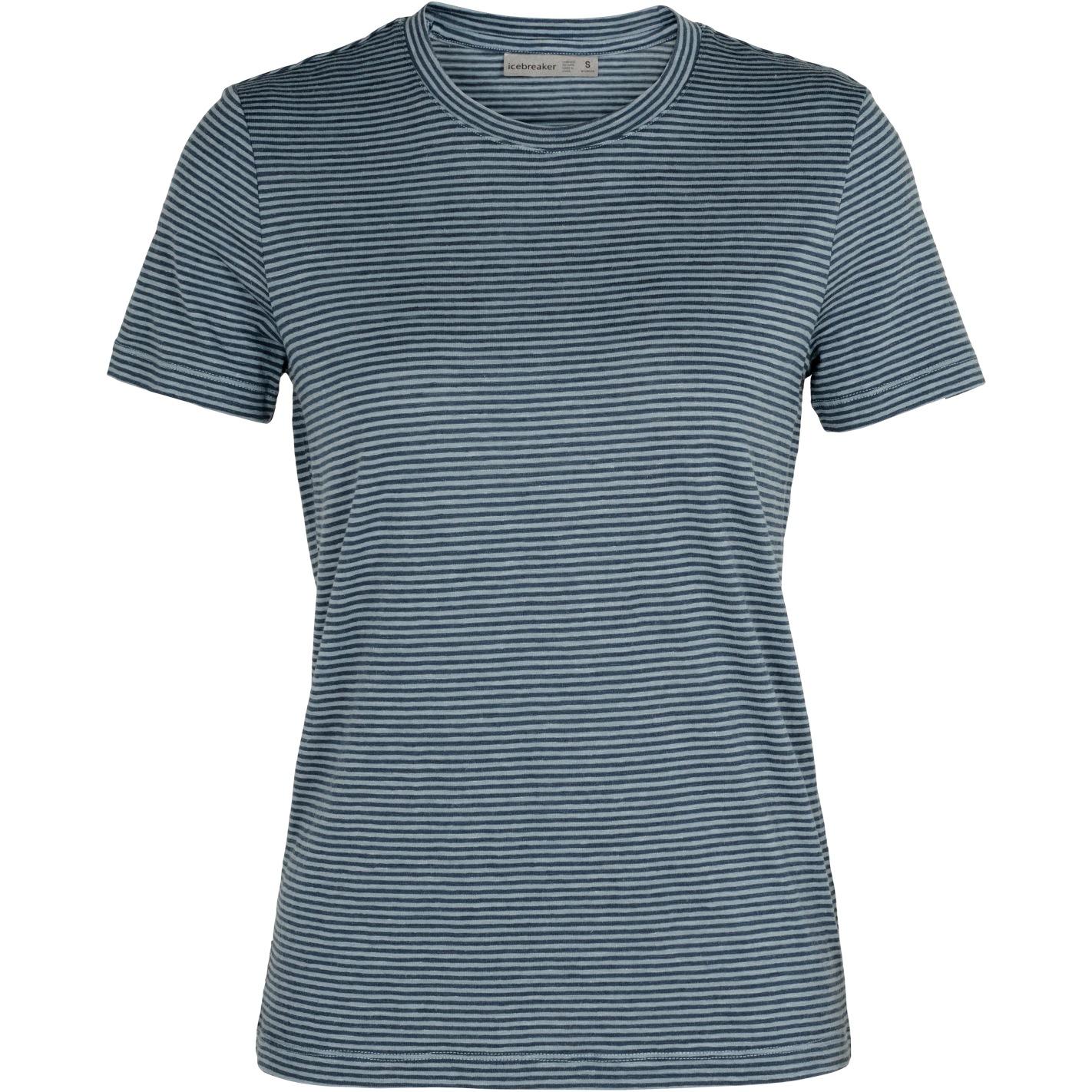 Produktbild von Icebreaker Dowlas Crewe Stripe Damen T-Shirt - Gravel