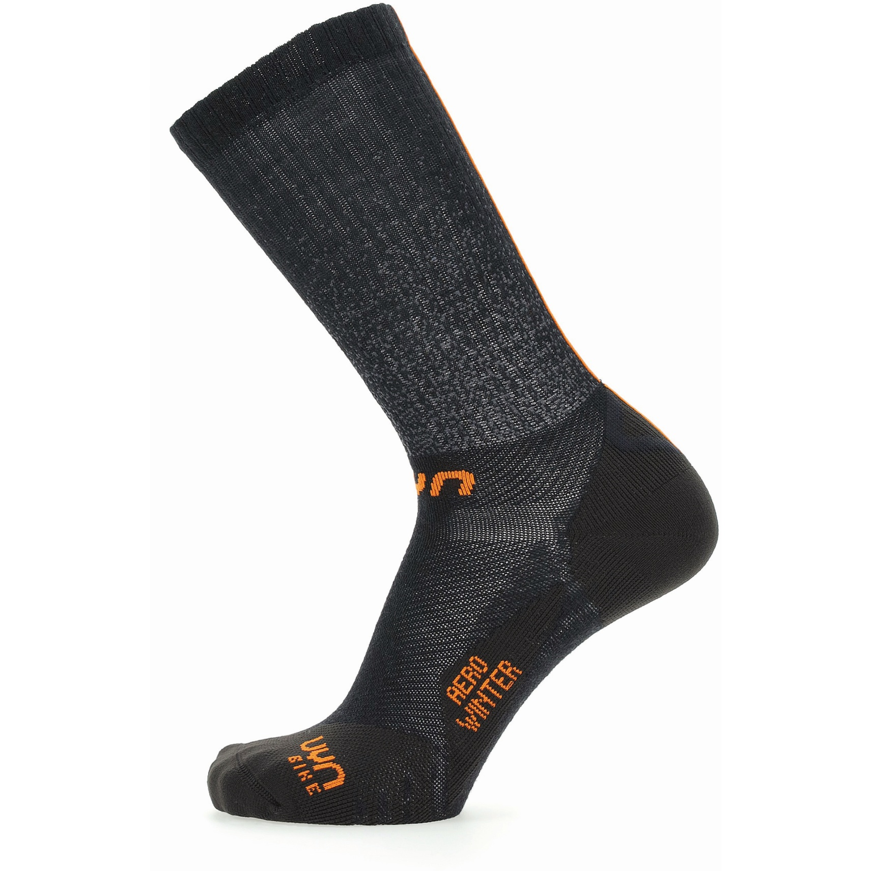 UYN Cycling Aero Winter Socken - Schwarz/Orange