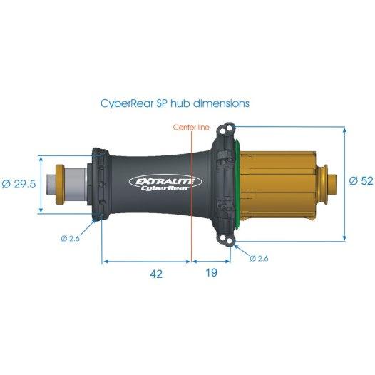 Image of Extralite CyberRear SP Rear Hub - QR