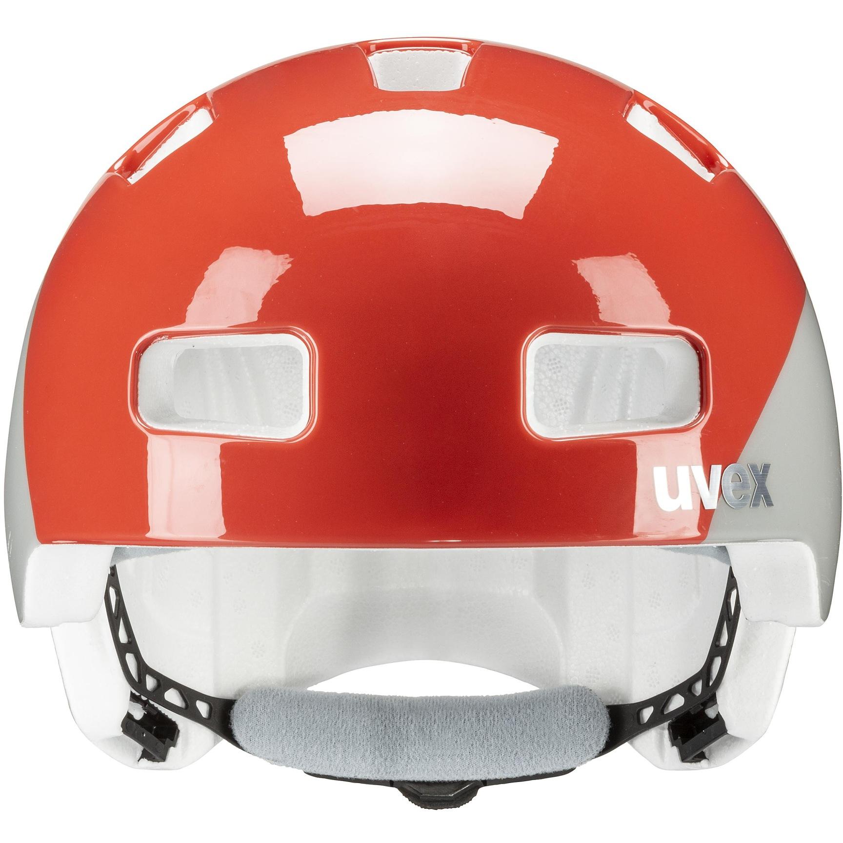 Image of Uvex hlmt 4 Kids Helmet - grapefruit-grey wave