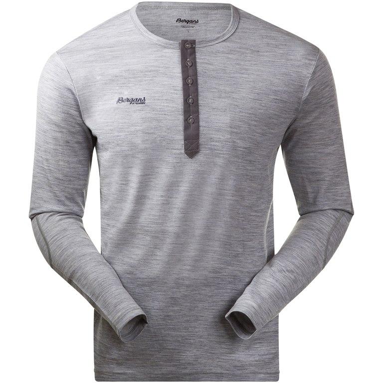 Foto de Bergans Henley Wool Camiseta - grey melange